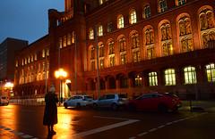 Rotes Rathaus (Lívia.Monteiro) Tags: rotes rathaus red city hall berlin germany alemanha europe europa berlim trip euro holi vacation peopl lonely viagem férias world lights night