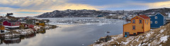 Fogo Harbour (Valley Imagery) Tags: fogo island harbour ice snow house cooler canada newfoundland panorama cold spring sony a99ii 70400gii landscape waterscape