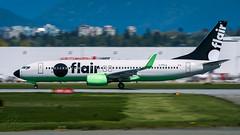 C-FFLA - Flair Airlines - Boeing 737-86N (bcavpics) Tags: cffla flairairlines boeing 737 738 aviation aircraft airliner airplane plane cyvr yvr vancouver britishcolumbia canada bcpics