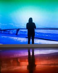 Two Sides of San Francisco (Thomas Hawk) Tags: america aprilgutel bayarea baybridge california eastbay embarcaderofreeway museum omca oakland oaklandmuseum oaklandmuseumofcalifornia sf sfbayarea sanfrancisco usa unitedstates unitedstatesofamerica vintage westcoast bridge norcal silhouette fav10