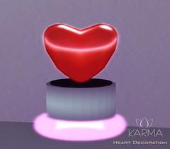 KARMA - Heart Decoration (Natalie Vallemont) Tags: backdrop background set sky land sand sandbox mesh decoration lights light night nightlight pack karma heartdecoration