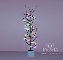 KARMA - Tree of lights (Natalie Vallemont) Tags: backdrop background set sky land sand sandbox mesh decoration lights light night nightlight pack karma tree treeof treelights