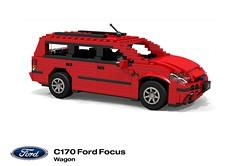 Ford C170 Focus Wagon (2001 Facelift) (lego911) Tags: ford motor company focus c170 wagon estate 2001 2000 auto car moc model miniland lego lego911 ldd render cad povray europe afol foitsop