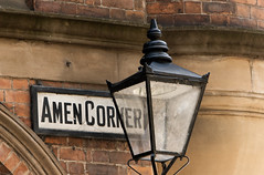 """Newcastle upon Tyne (everyone of a certain age will now be singing """"If Paradise is Half as Nice""""! (alisonhalliday) Tags: streetsigns lamp newcastleupontyne canoneos77d canonefs18135mm amencorner localhistory"""