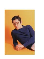 (Red-the-daydreamer) Tags: portrait notfilm pastel studio keylight model fashion editorial pose backdrop orange yellow faux film films dead