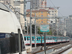 Söğütlüçeşme station, Istanbul (Steve Hobson) Tags: turkish railways tcdd söğütlüçeşme station istanbul ht65000 fast train yüksek hızlı tren yht marmaray hyundai rotem e32000 emu