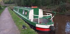 Narrow boat at Talybont. (aitch tee) Tags: waterways leisure hirecraft boat scene outdoor walesuk narrowboat moored canalbarge breconmonmouthcanal talybontonusk