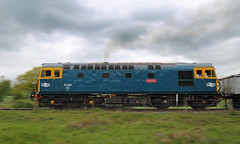 Colourful Crompton (Treflyn) Tags: panned pan panning shot brcw br blue livery class 331 33 crompton 33102 sophie pounds bank foxfield railway train 16t mineral wagon emrps east midlands photographic society photo charter
