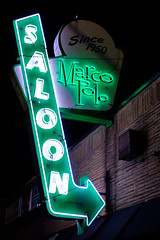 Marco Polo Saloon (matthucke) Tags: seattle georgetownseattle neonsign vintagesign pub bar saloon