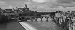 On dirait le Sud (Aphélie) Tags: albi city bw black white river church france