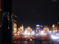 Remember (fulgherigabriele) Tags: maidan night lights todontforget flag ukraine kiev kyiv architecture building