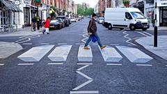 3D Crossing (Croydon Clicker) Tags: road crossing zebracrossing pedestrian stjohnswood london westminster car van man people street vehicle 3d