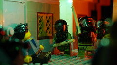 Dark Ally Police Raid (Force Movies Productions) Tags: war weapons wars eastern east toy toys trooper troops troop troopers youtube photograpgh photo picture photograph pose photography animation soldier soldiers stopmotion firearms helmet helmets lego legophotograghy legophotography raid police riot army scene film conflict custom bricks brickarms brickizimo brick minfig minifig minifigure minifigs military moc