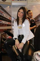 motorshow girl (themax2) Tags: hostess bologna 2009 motorshow girl leggings face brunette tights