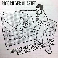 Rick Rieger Quartet (BOPST) Tags: bopst design graphicdesign photoshop meme poster gigposter cat wine jazz 2015 rva