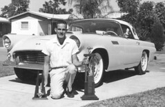 Street Eliminator, 1963 (clarkfred33) Tags: trophy award streeteliminator dragrace selfie 1963 nhra 1955thunderbird thunderbird vintage vintagephoto historic pose competition compete