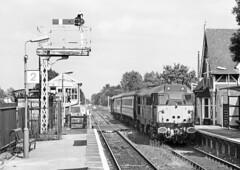 Woburn Sands - 1999 (Kingmoor Klickr) Tags: gordonedgar woburnsands semaphore signal fragonset railways class31 class314 31459 31602 marstonvale bedford bletchley silverlink cerberus