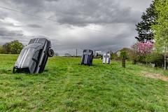 14-Voitures enfoncées (Alain COSTE) Tags: 2019 hautevienne lavarache limousin nikon ocb printemps sigma20mmf14 eymoutiers france musée de la récup muséedelarécup