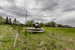 18-Super Singe in the boat (Alain COSTE) Tags: 2019 hautevienne lavarache limousin nikon ocb printemps sigma20mmf14 eymoutiers france musée de la récup muséedelarécup