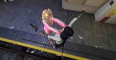The choking rule (Teddi Beres) Tags: second life sl virtual black blande girl woman killer assassin attack fight battle danger peril assault