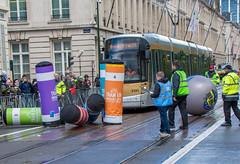 Tram bowling. (Azariel01) Tags: 2019 belgique belgium brussels bruxelles tram tramem championnat cup championship concours stib mivb lightrail rueroyale city ville bowling quilles ball balle