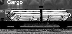 graffiti on freights (wojofoto) Tags: amsterdam nederland netherland holland graffiti streetart cargotrain freighttraingraffiti freighttrain freights fr8 vrachttrein wojofoto wolfgangjosten trein train delta zwartwit blackandwhite monochrome oak
