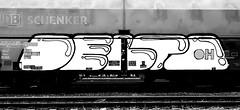 graffiti on freights (wojofoto) Tags: amsterdam nederland netherland holland graffiti streetart cargotrain freighttraingraffiti freighttrain freights fr8 vrachttrein wojofoto wolfgangjosten trein train delta zwartwit blackandwhite monochrome