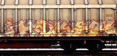 graffiti on freights (wojofoto) Tags: amsterdam nederland netherland holland graffiti streetart cargotrain freighttraingraffiti freighttrain freights fr8 vrachttrein wojofoto wolfgangjosten trein train haker