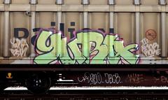 graffiti on freights (wojofoto) Tags: amsterdam nederland netherland holland graffiti streetart cargotrain freighttraingraffiti freighttrain freights fr8 vrachttrein wojofoto wolfgangjosten trein train yura