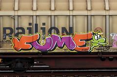 graffiti on freights (wojofoto) Tags: amsterdam nederland netherland holland graffiti streetart cargotrain freighttraingraffiti freighttrain freights fr8 vrachttrein wojofoto wolfgangjosten trein train fume