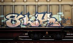 graffiti on freights (wojofoto) Tags: amsterdam nederland netherland holland graffiti streetart cargotrain freighttraingraffiti freighttrain freights fr8 vrachttrein wojofoto wolfgangjosten trein train slk slh