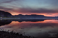 Poolewe Sunset (VanishingPoints) Tags: inverewe scottishsunset october beach scotland scottishlochs highlands pink sunset lochewe scottishlandscapes poolewe loch purple red