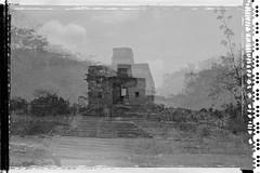 Dzibilchaltún (Lumière Passagère) Tags: multipleexposures mayan maya digital analogue polaroid stellar hasselblad shadows sombre visualpoetry mystery noir bw monochrome blackandwhite