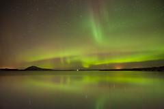 northern lights - Lake Myvatn - Iceland (funkytravel) Tags: myvatn aurora auroraborealis frozen green iceland lake landscape longexposure night nopeople northernlight panorama reflect scenic water winter winterlandscape