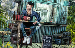 i just wanna sit outside that day, and talk about life with someone (RyanTailor (Taking Clients)) Tags: fashion furniture decor decorate outside drd coldash anthem event new monthly kalback deadwool clefdepeau beer bar plants tattoo pose bento men man boy guy gay homme love freedom passion