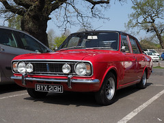 Ford Cortina MK11 - 1600E (colin ryan photography) Tags: ford cornina fordcortina 1600e mk11 red clean classic classiccar old olympus olympus12100pro olympusem1mk11 colinryan soaringviewsphotography leicester