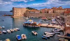 Dubrovnik west harbour (Vest der ute) Tags: xt20 croatia buildings boats sea quay people sky clouds fav25 dubrovnik