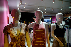 Faceless Sisters (coljacksg) Tags: late night trio mannequins symbolizing degrees facelessness shop store dress sisters tamaron 2875mm af f28 sp xr di ld