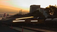 Train passing (jamestapatio) Tags: sunrise timelapse motion train caltrain southsanfrancisco