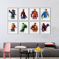 Watercolor Avengers Super Hero Batman Iron Captain Canvas Art Print Pop Movie Poster Black Widow Hulk A4 Abstract Wall Picture Deco Painting by TheMildArt (Mild Art) Tags: art poster print painting canvas frame design original mild home decoration wall etsy shop for themildart