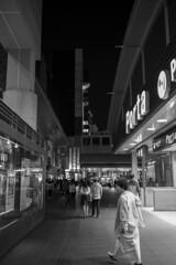 JR Kyoto Station (Hideki-I) Tags: z7 35mm nikon kyoto japan jr railway station monochrome blackandwhite whiteandblack 白黒 黑白 night people city urban
