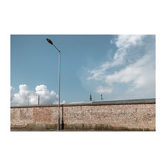 Bloomfield Road (John Pettigrew) Tags: lines tamron d750 nikon britannia streetlamps lampposts mundane verticals shadows statues topographics imanoot banal ordinary walls observations patterns sky features documentary angles documenting johnpettigrew