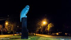 The Owl Statue on Monday morning (garydlum) Tags: owlstatue publicart canberra australiancapitalterritory australia