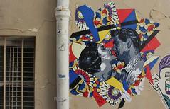 Mélissa Perre_5906 passage des Abbesses Paris 18 (meuh1246) Tags: streetart paris paris18 buttemontmartre mperre passagedesabbesses mélissaperre elizabethtaylor liztaylor rockhudson couple baiser