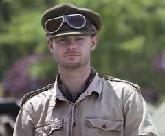 America goes to War -  Poquoson Museum Virginia (watts photos1) Tags: america goes war poquoson museum virginia us army military soldier goggles unifrom reenactor reenactors khaki man
