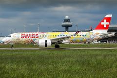 HB-JCA (PlanePixNase) Tags: eddv haj hannover airport aircraft planespotting langenhagen swiss fichtre cseries cs300 bombardier airbus a220300 a220