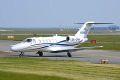 9A-DWA Cessna 525 Citation EGNS 17/4/19 (David K- IOM Pics) Tags: egns iom isleofman isle man ronaldsway airport cessna 525 citation cj2 business jet 9a 9adwa