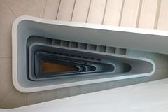 Triangle III (Elbmaedchen) Tags: staircase stairs stairwell stufen steps architektur architecture treppenhaus treppenauge treppe treppenstufen escaliers escaleras