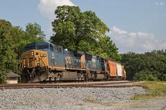CSX A703-03 at NE Emerson (travisnewman100) Tags: csx train railroad manifest freight locomotive ge emd ac44cw yn3 sd70mac emerson georgia wa subdivision atlanta division a703 local