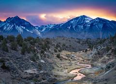 Eastern Sierra Sunset (Michael Carl) Tags: landscape sunset thunderstorm stream mountain clouds easternsierra sierranevada california owensvalley michaelcarlphotography